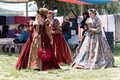 Renaissance Faire court participants Stock Image