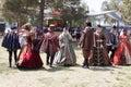 Renaissance Faire dance Royalty Free Stock Photo