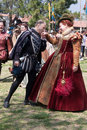 Renaissance Faire dance Stock Photos