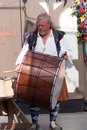 Renaissance Faire drummer Royalty Free Stock Photo