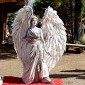 Renaissance Faire fantasy angel mime Royalty Free Stock Photo