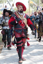 Renaissance Faire procession Stock Image