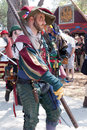 Renaissance Faire procession Royalty Free Stock Image