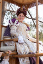 Renaissance Faire queen's procession Royalty Free Stock Image
