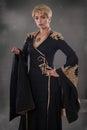 Renaissance fashion beauty. Classical beauty in a fancy renaissa Royalty Free Stock Photo