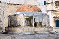 Renaissance fountain inside old town dubrovnik onofrije big Royalty Free Stock Photography