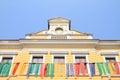 Renaissance house in jicin behind each streamers town czech republic Royalty Free Stock Photos