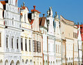 Renaissance houses in Telc Royalty Free Stock Photography