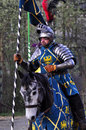 Renaissance knight on horseback Royalty Free Stock Photo
