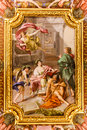 Renaissance painting at vatican museum april in rome italy Royalty Free Stock Images