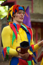 Renaissance Performer - Court Jester Stock Photography