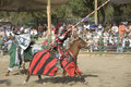 Renaissance Pleasure Faire - Jousting Knights 3 Stock Image
