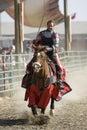Renaissance Pleasure Faire - Knights on Horseback 1 Royalty Free Stock Photo