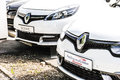 Renault cars abstract view of with lots of copy space opportunities Stock Photo