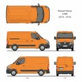 Renault Master Cargo Delivery Van L1H1 2014-2019 Royalty Free Stock Photo