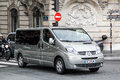 Renault trafic paris france august light commercial vehicle in the city street Royalty Free Stock Photos