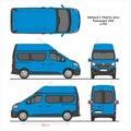 Renault Trafic Passenger Van L1H2 2014 Royalty Free Stock Photo