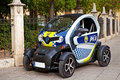 Renault Twizy police car in Valencia, Spain. Royalty Free Stock Photo