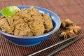 Rendang daging dried beef curry coconut milk spices traditional indonesia malaysian singaporean dish Stock Photos