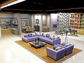 Render of a living room three dimensional design Royalty Free Stock Photos