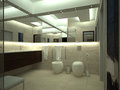 Render of luxury toilet Royalty Free Stock Photo