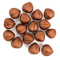 Render of nut hazelnut realistic d Royalty Free Stock Photography