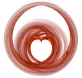 Rendered heart shape Stock Image
