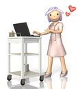 Rendered image depicting a kind nurse this is computer generated on white background Royalty Free Stock Photography