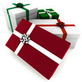 Rendered Red and Green Presents Stock Image