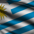 Rendered Uruguayan Square Flag Royalty Free Stock Photography