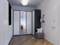 Rendering hall interior design