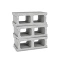 Rendering of three cinder blocks isolated on the white background Royalty Free Stock Photo