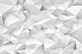 Rendering of white polygonal triangular geometric abstract background