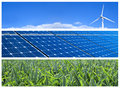 Renewable Energy Banners Royalty Free Stock Photography