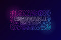 Renewable Energy colorful banner