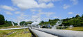 Renewable energy from a geothermal steam field Royalty Free Stock Photos