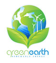 Renewable energy illustration drawing representing logo design Royalty Free Stock Photography