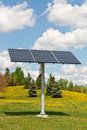 Renewable Energy - Photovoltaic Solar Panel Array Royalty Free Stock Photos