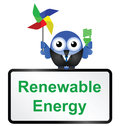 Renewable energy sign isolated on white background Royalty Free Stock Photos