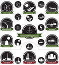 Renewable Energy Sources - Icon Pack Royalty Free Stock Photos