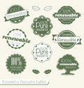 Renewable Resource Labels and Stickers Royalty Free Stock Images