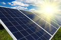 Renewable solar energy power plant using Stock Photo