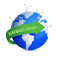 Renewal energy globe concept illustration design Stock Photos