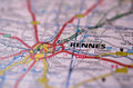 Rennes on map