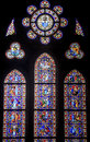 Rennes, stained glass Stock Image