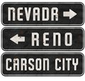 Reno Nevada Carson City Street Signs Grunge