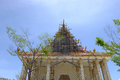 Renovate at  Wat Pa Lelai Worawihan (Pa Lelai Worawihan Temple) - Suphanburi Royalty Free Stock Photo