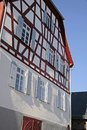Renovated half-timbered house Stock Images