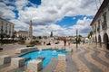 Renovated historic square in tavira portugal july city Stock Photos