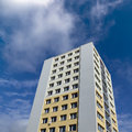 Renovated prefab with the blue sky in hradec kralove Royalty Free Stock Photography